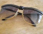 vintage street style Gold Tone Knot Front sunglasses 80s LB babe
