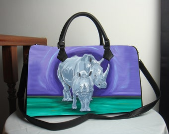 Rhino Handbag, Vegan Leather - Help Support Wildlife Conservation, Read How - Salvador Kitti