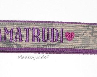 Purple I heart my Airman key chain hearts plus Name on back