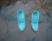 Vintage Barbie 1966 Fashion Editor Turquoise Shoes Pumps HTF 1635
