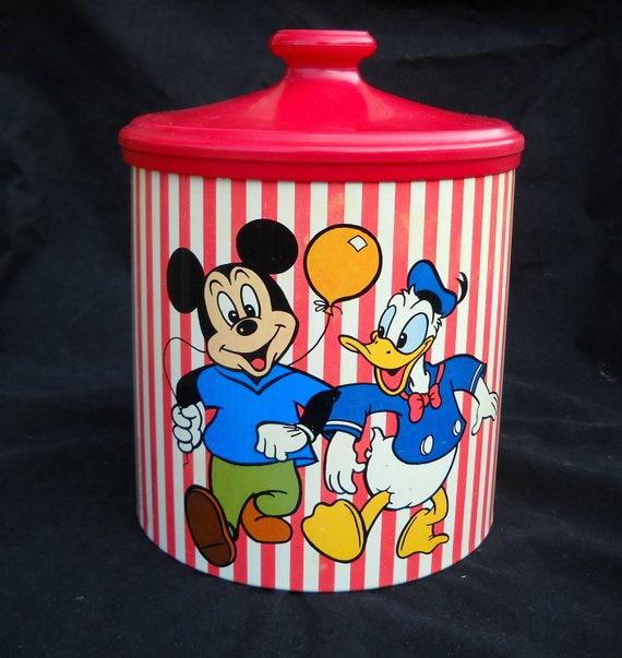 Vintage Disney Mickey, Donald, Pluto,Goofy Cookie Tin