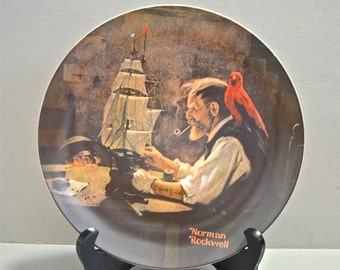 Norman Rockwell Collectors Plate Rockwell's Heritage Series The Ship Builder