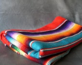 Vintage Mexican Red Serape Runner