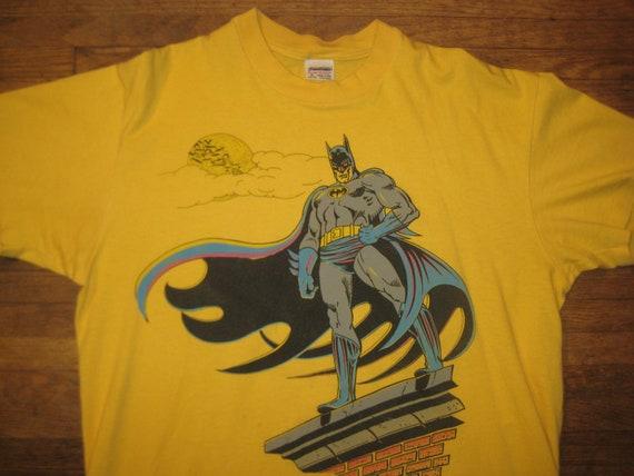 1980's Batman comic book t-shirt, XL, yellow