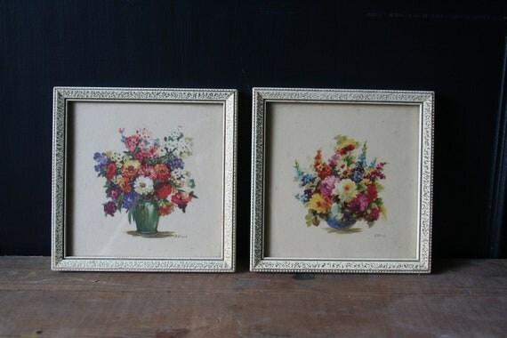 Framed Floral Prints by M. Black