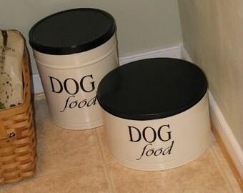 Pet Food Bin Vinyl Label