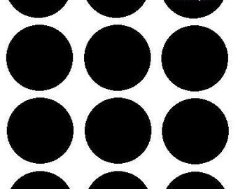 50 (1.5-inch) Round/Circle Chalkboard Vinyl Labels