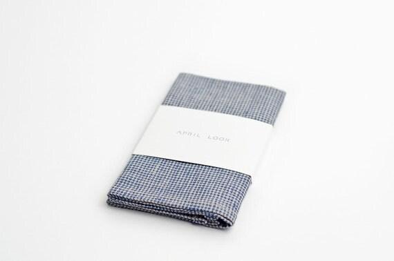 Men's pocket square, houndstooth