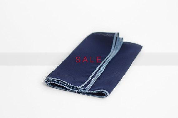 SALE - Navy blue pocket square