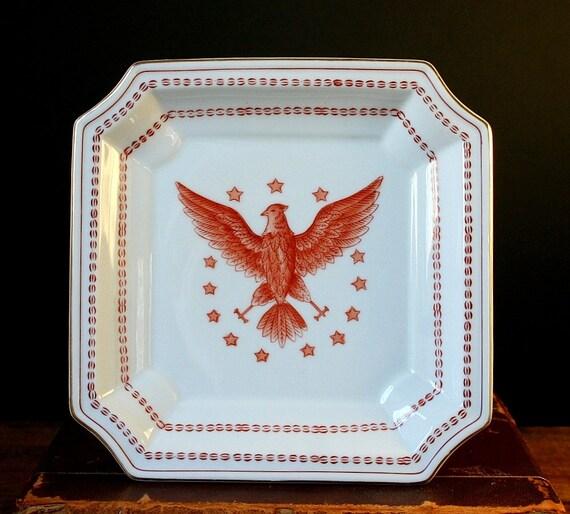 American Eagle Ethan Allen Porcelain Plate