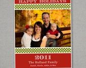 Christmas Card - Ribbon Stripes