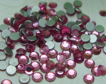 144  pcs  swarovski  flat back crystal,Rose,SS5