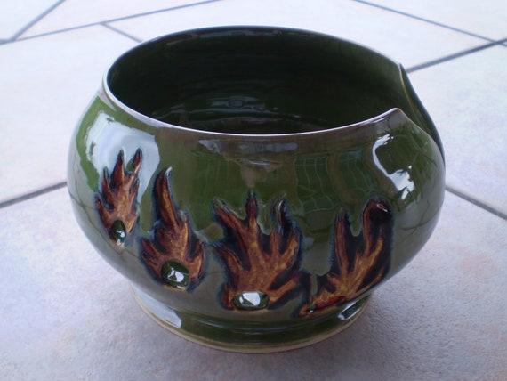 Flaming Yarn Bowl