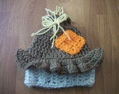 4-12 Year Boy Scarecrow Hat- Photo Prop