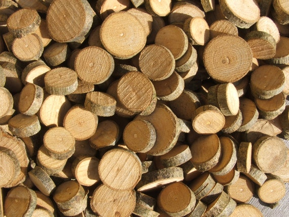 Wood Supplies 100 Wooden Ash Slices. 1/2 to 1 inch. Supplies for all your Crafts and Projects.