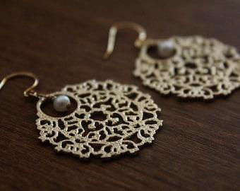 Filigree & Pearl Earrings