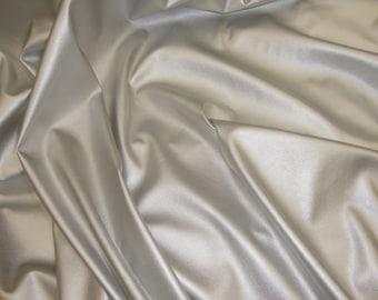 Silver Stretch Clothing  vinyl fabric per yard