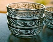 Indiana SIlver EAPG Dessert Bowl Set by Indiana Glass Co / Set of Five Indiana Sensation Pressed Glass / Depression Glass Berry Bowls