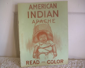 American Indian Apache Read and Color Book