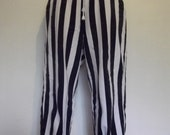 Vintage comfy cotton slouch nautical striped trousers good condition small/medium