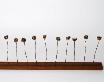 Metal Sculpture Botanical Art Wabi Sabi