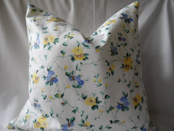 Decorative Laura Ashley Floral Fabric ,Pillow Cover 18 x 18
