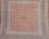 indian print bedspread table cover-vegetable dyes/indigo colors/natural colors