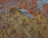 kantha quilts/kantha bedcovers /hand quilted bedcovers/kantha rallis/hand stiched bedcovers flower print hand quilted kantha bedspeads/