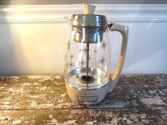 Mid Century Coffee Percolator Coffee Pot Citation Proctor Silex Coffee Server Electric Percolator Starburst
