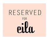 R E S E R V E D for Eila. Custom Wallet.