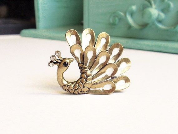Bronze Peacock Ring