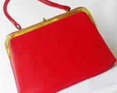 Red Dova Kelly Bag 60s Purse XL