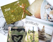 One Word Greeting Cards - Set of 5