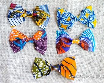 Ankara Bow hair clip:  Choose one Ankara bow clip