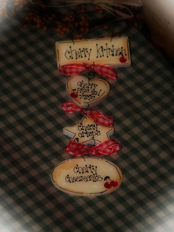 Https Www Etsy Com Listing 106918931 Cherries Kitchen Decor Cherry Tarts Pies
