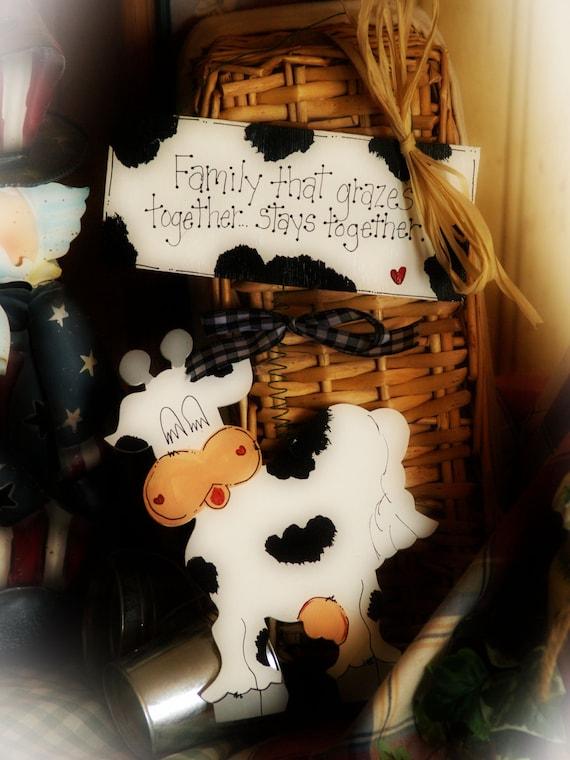 items similar to cows country kitchen decor farm cow