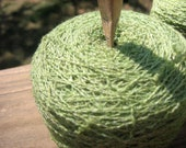 Recycled Yarn Merino Wool Blend Apple Green 60 g Lace weight