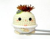 Crocheted Amigurumi - Peace baby MochiQtie - amigurumi doll toy with mochi love