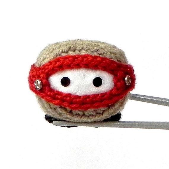 Reserved - Amigurumi - Robotic Ninja MochiQtie - Crochet amigurumi Mochi size toy  doll