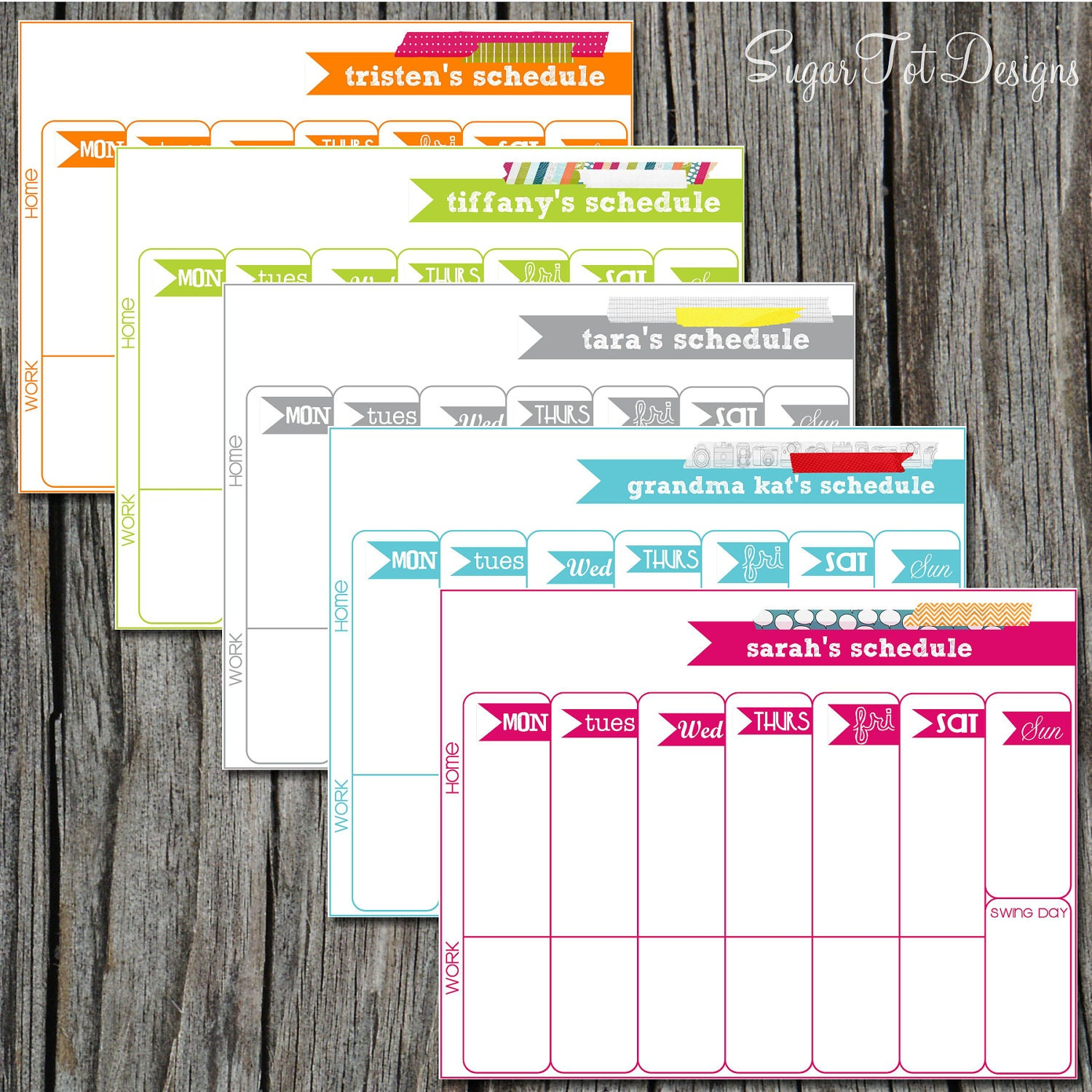Personalized Weekly Schedule Weekly Scheduler Weekly Planner