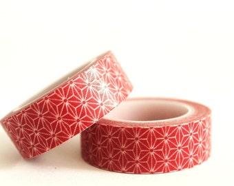 Red Starburst Washi Tape