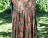 Vintage Woman's Handmade Summer Lily Dress