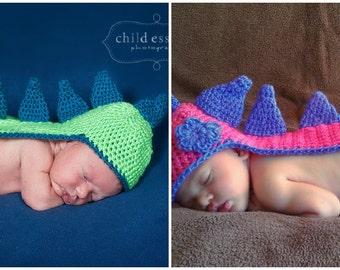 Newborn Twin Boy Girl Dino Hat Set Newborn Photo Prop