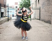 Batgirl TuTu Dress Fits 24 Months to 4T (Available in Pink or Yellow)