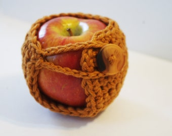Crochet Apple Cozy - Choose Your Color - Cotton Cozy  - Teacher Gift - Back To School - Stocking Stuffer