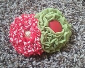 Red and Green Holiday Hair and clothing accessory