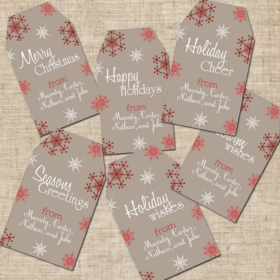 Items similar to Printable Personalized Christmas Gift ...