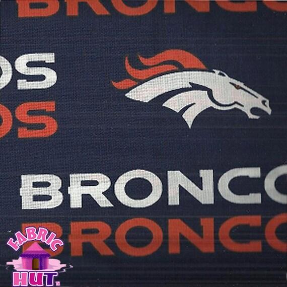 140138567 NFL Denver Broncos Navy Cotton Fabric