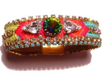 Vintage Rhinestone Friendship Bracelet - Pure Lust