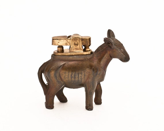 Working 1950s Japanese Amico Miniature Donkey Table Lighter